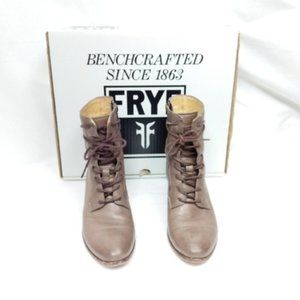 Frye Courtney Lace Up Leather Combat Boots 6